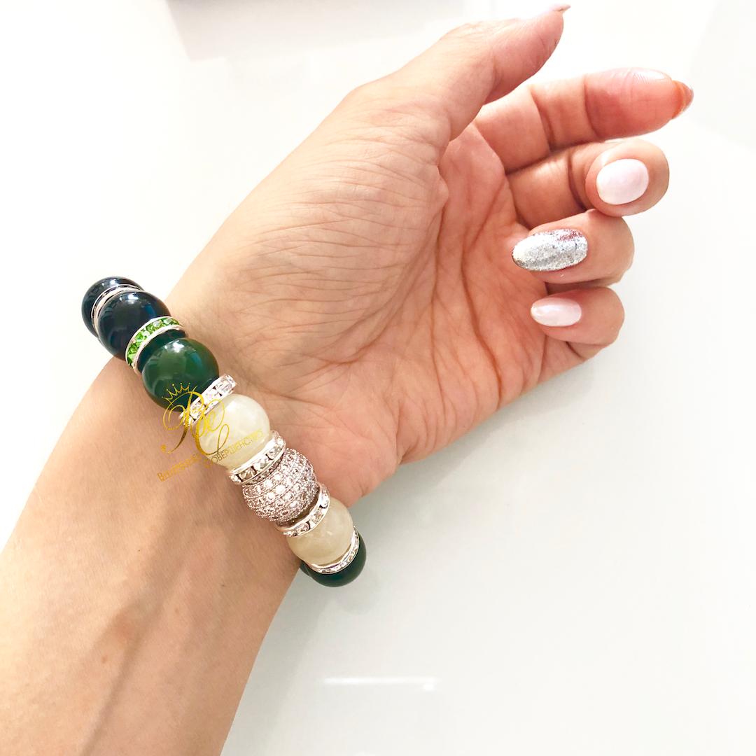 Купить украшения из нефрита - браслет из белого, черного, зеленого и медового нефрита