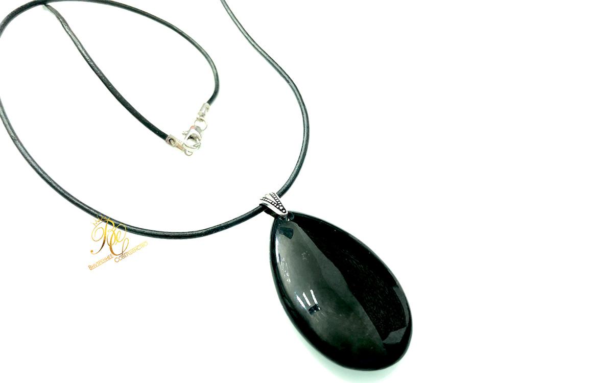 Купить кулон подвеску из натурального черного нефрита, украшения из черного нефрита